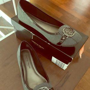 Grey Flat Fall Shoes